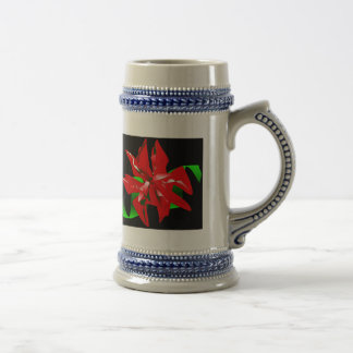 Christmas Flower Customizable Coffee Mugs
