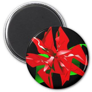 Christmas Flower Customizable Magnet