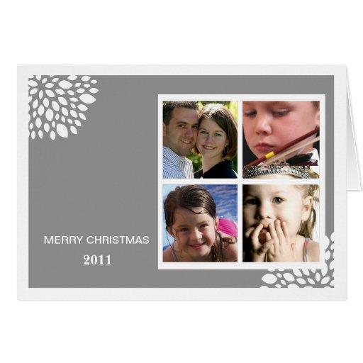 Christmas Flower Folded Holiday Card