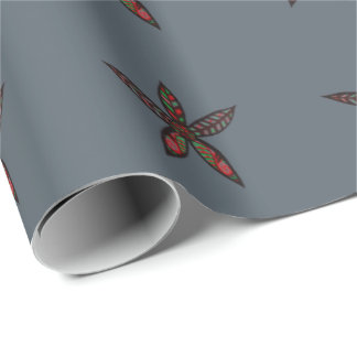 Christmas Flower Wrapping Paper