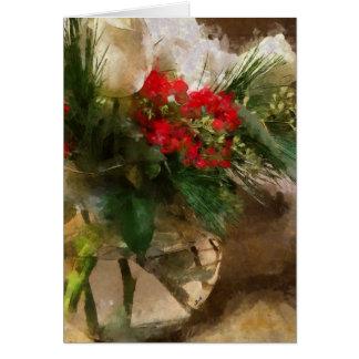 Christmas Flowers, Flower card, Christmas card
