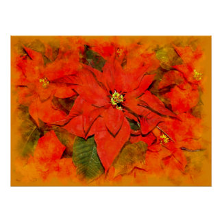 Christmas flowers poster