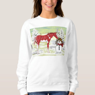 Christmas Foal and Snowman Sweatshirt