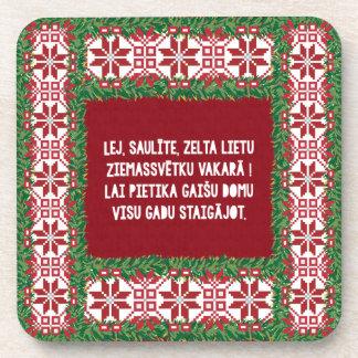 Christmas Folk Song III Latviesu Tautasdziesma Coaster