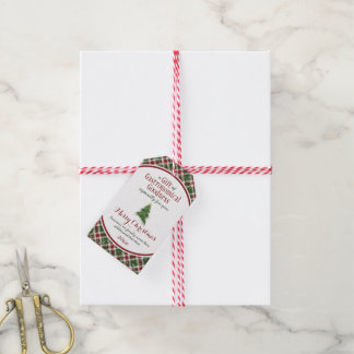 Christmas food gift plaid business family pack of gift tags