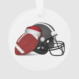 Christmas Football And Helmet Ornament