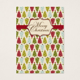 Christmas Forest Gift Tag 2 Business Card