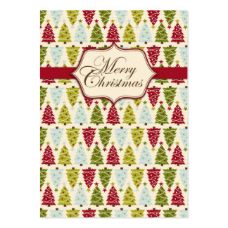 Christmas Forest Gift Tag 2 Large Business Card