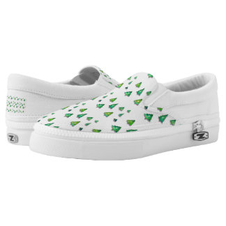 christmas forest pattern. Slip-On sneakers