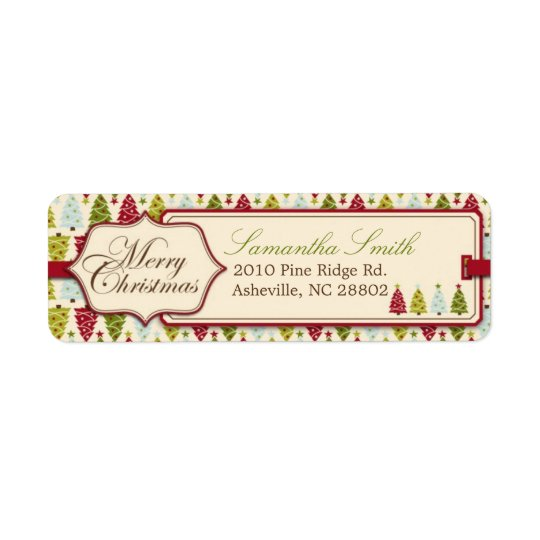 Christmas Forest Return Label