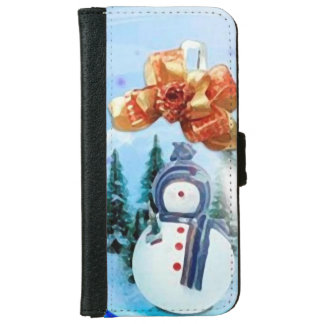 Christmas founds portfolio iPhone 6 wallet case