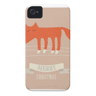 christmas fox Case-Mate iPhone 4 case