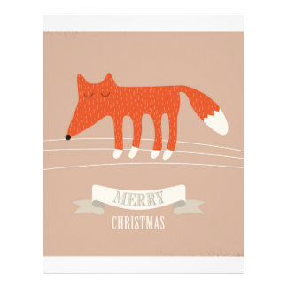 christmas fox letterhead