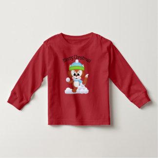 Christmas fox unisex toddler t-shirt