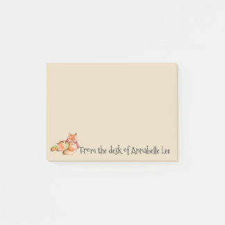 Christmas Foxes Post-it Notes