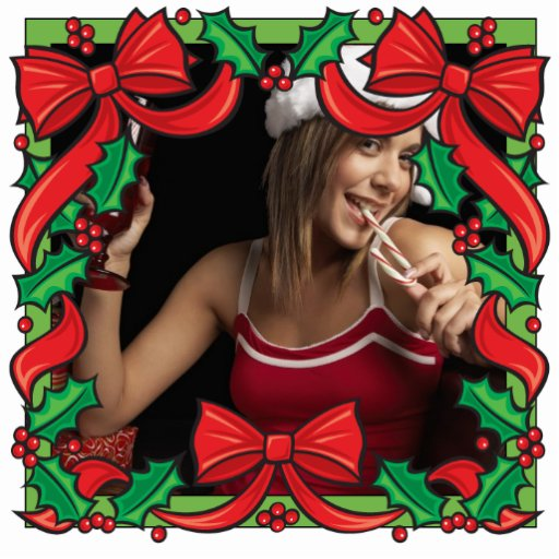 Christmas Frame Ornament Customizable Photo Photo Cut Out