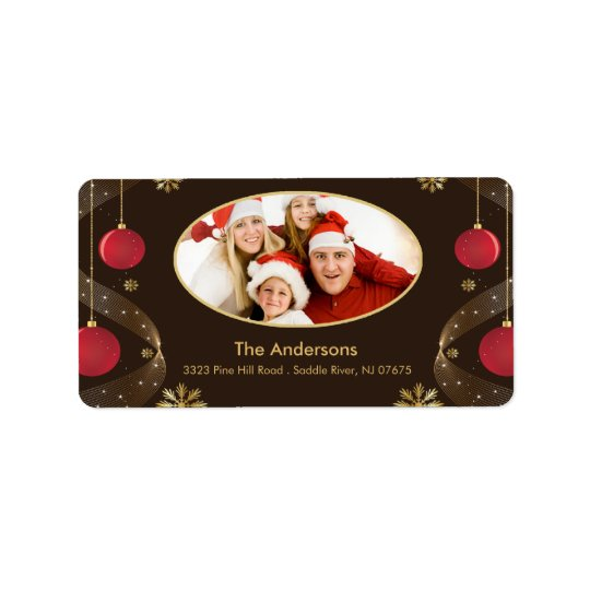 CHristmas Frame PHOTO Return Address Label