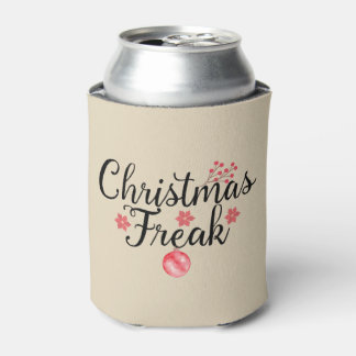 Christmas Freak Typography Can Cooler