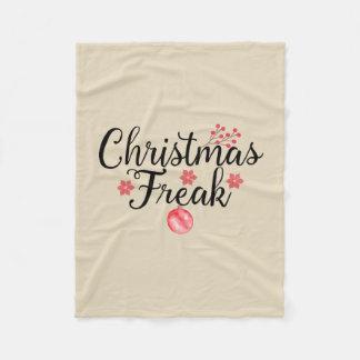 Christmas Freak Typography Fleece Blanket