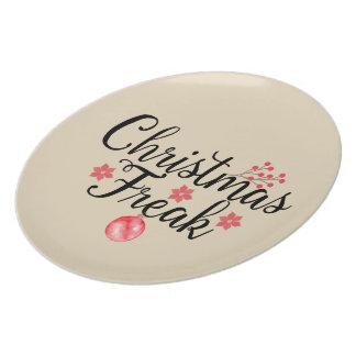 Christmas Freak Typography Plate
