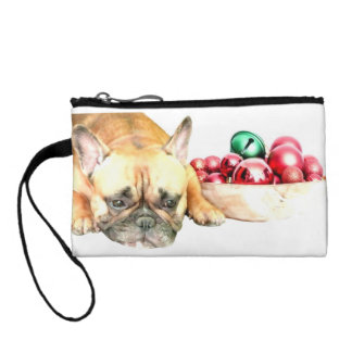 Christmas French Bulldog Coin Purse