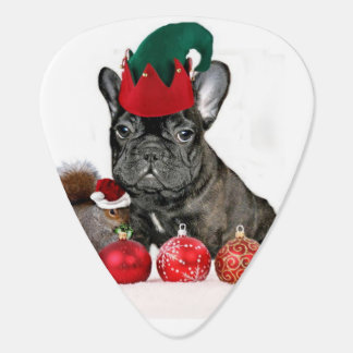 Christmas French Bulldog Guitar Pick