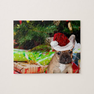 Christmas French Bulldog Jigsaw Puzzle