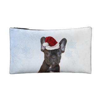 Christmas French Bulldog Makeup Bags