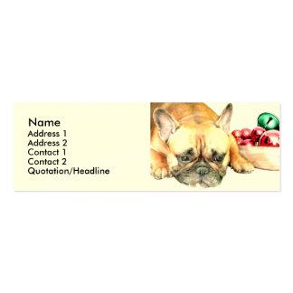 Christmas French Bulldog Mini Business Card