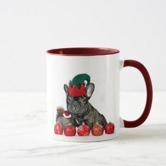 Christmas French Bulldog mug