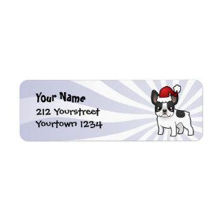 Christmas French Bulldog Return Address Label