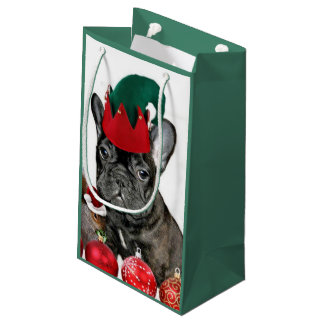 Christmas French Bulldog Small Gift Bag