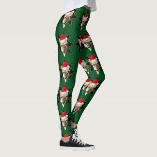 Christmas French Bulldog sport leggings