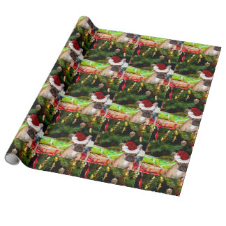 Christmas French Bulldog Wrapping Paper