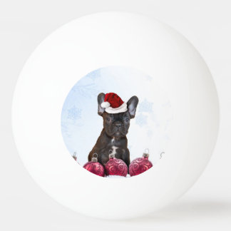 Christmas French Bulloog Ping Pong Ball