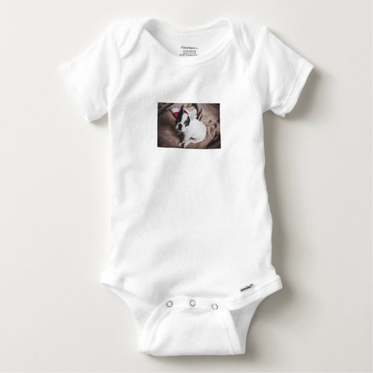 Christmas Frenchie Baby Onesie