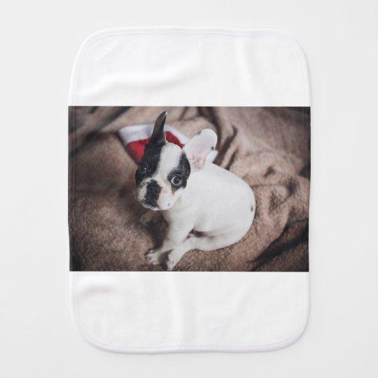 Christmas Frenchie Burp Cloth