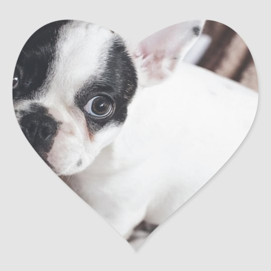 Christmas Frenchie Heart Sticker