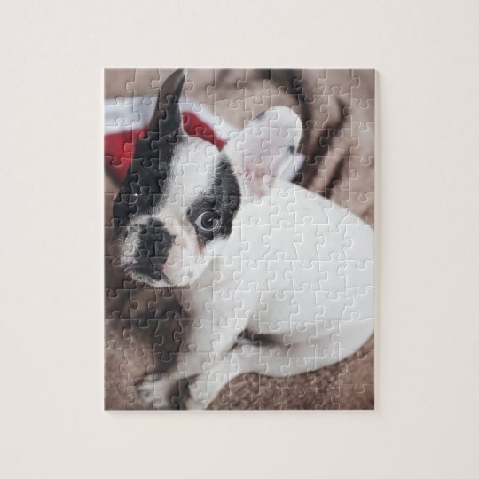 Christmas Frenchie Jigsaw Puzzle