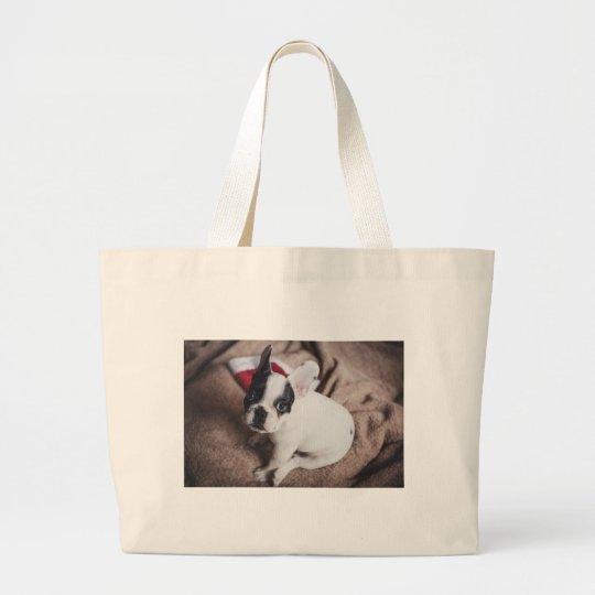 Christmas Frenchie Large Tote Bag