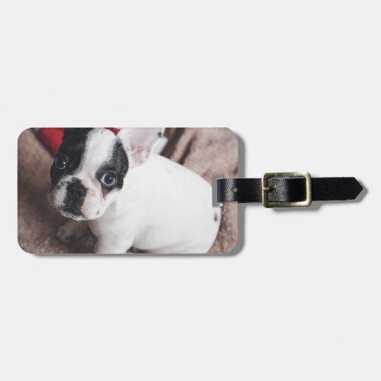 Christmas Frenchie Luggage Tag