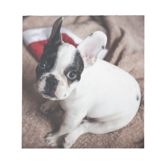 Christmas Frenchie Notepad