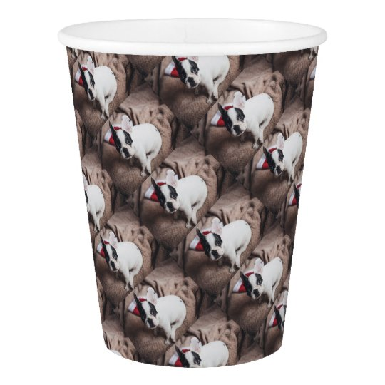 Christmas Frenchie Paper Cup