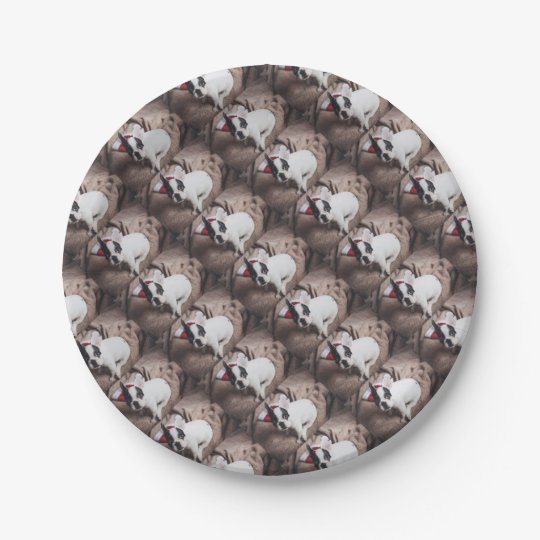 Christmas Frenchie Paper Plate