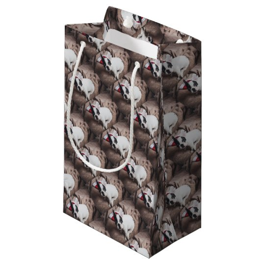 Christmas Frenchie Small Gift Bag