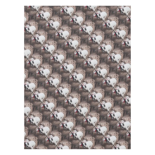 Christmas Frenchie Tablecloth