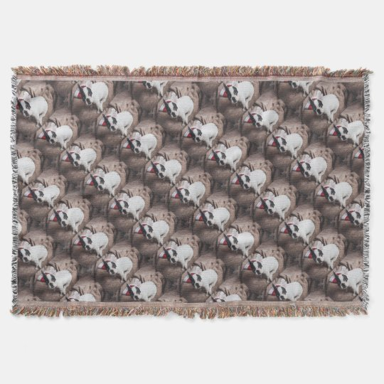 Christmas Frenchie Throw Blanket