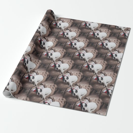 Christmas Frenchie Wrapping Paper