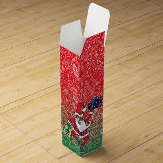 """Christmas Frenzy"" with Santa — Wine Gift Box"