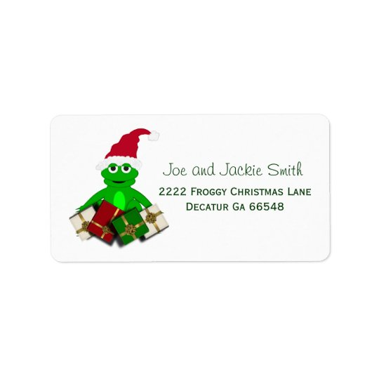 Christmas Frog Address Labels